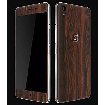 GADGETS WRAP Oneplus x or One Plus x Wooden Mahogany Skin Front Back Both. A3A02