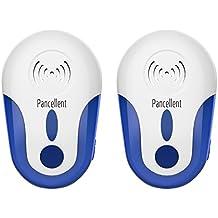Repellente Insetticida Pancellent Insetti (3200 SQ FT) Con La Spia Elettronica Del Ricondizionatore Elettronico A Lunga Distanza (2 Pack)