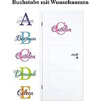 NEU Aufkleber/Sticker für Kinderzimmer - Wände,Türen, Autoscheiben/Lack uvm ***BUCHSTABE mit WUNSCHNAMEN***(Größen.- und Farbauswahl)