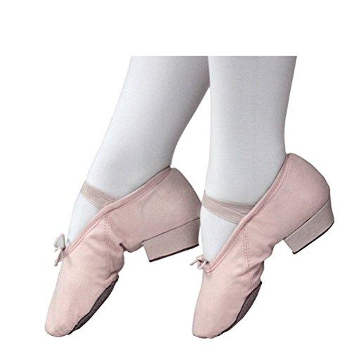 Zhuhaitf Professionale 3 Colors Fashion Adult Soft Sole Practice Shoes Womens Canvas Gymnastics Yoga Ballet Dance Shoes Nude
