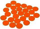 DP-Tech 25 Stück Einkaufswagenchips Chips für Einkaufswagen, Wert- oder Pfandmarke ersetzt 1-Euro-Münze Orange