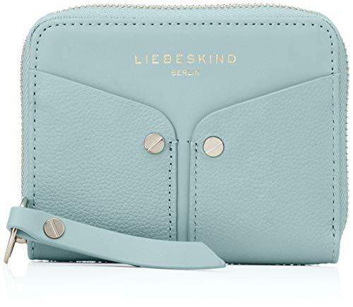 Liebeskind Berlin Damen Duo Conny Wallet Medium Geldbörse, Blau (Light Blue Mist) 2x10x13 cm -