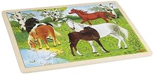 Goki-57894 maderaPuzzles de maderaGOKICarrera de poney, Puzzle, (4013594578943)