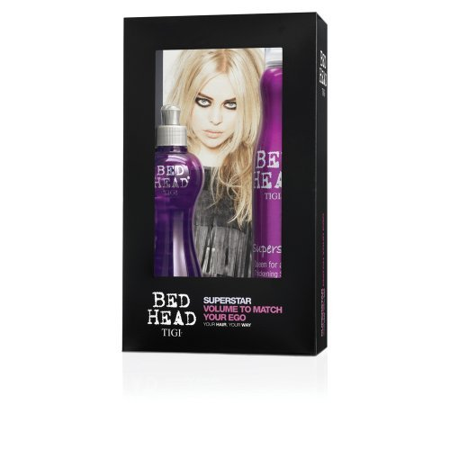 Tigi Bed Head Superstar Queen for a day 320ml + Superstar Blowdry Lotion 250ml - Superstar Geschenkset (Superstar Blowdry Head Lotion Bed)