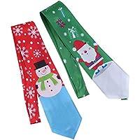 STOBOK Regalo Hermoso del Lazo de la impresión de la decoración Creativa del Lazo de la Navidad para los niños 2pcs