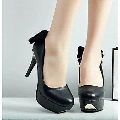 Moda Donna Sandali Sexy donna tacchi tacchi estate pu Casual Stiletto Heel Bowknot nero / rosso / bianco altri Red
