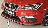 Rieger Frontspoilerschwert schwarz matt für Seat Leon FR (5F)/ Cupra (5F): 01.17- (ab Facelift)