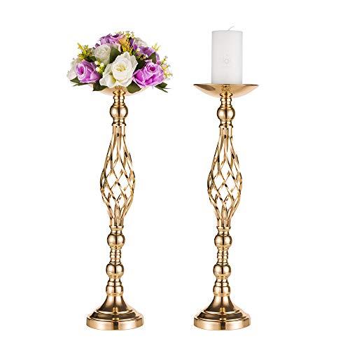 Hochzeit/Party Blumenstände, Goldene Tischvase, eiserne Kerzenständer Säulenständer, Blumenständer für Haupttisch Empfangstisch