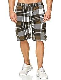 Pantalon Cargo Homme Bermuda à Carreaux Basic Walkshort 18632861370