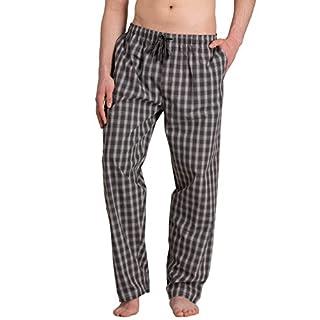 Moonline - Herren Webhose Freizeithose Loungewear aus 100% Baumwolle, Farbe:grau, Größe:50/52