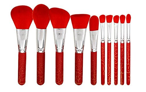 Make Up Brushes Cosmetics Professional Poignée en bois Ensemble de 12 pinceaux MakeUp Brush inclus Fondation Concealer Blush Ombre à paupières Pinceau à sourcils Poudre à lèvres avec boîte en fer blanc Emballage