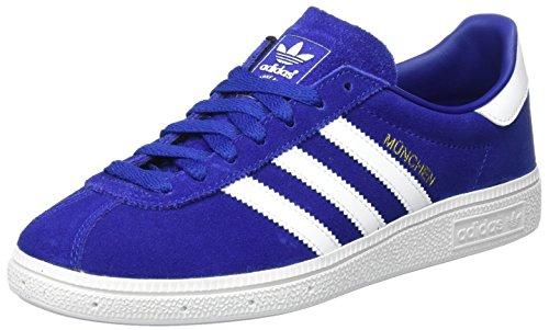 adidas Originals München, Sneakers Basses Homme, Bleu Marine/Gris Clair Bleu (Mystery Ink)