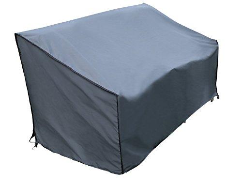 SORARA Schutzhülle/Cover Bank | Grau | 86 x 178 x 90/61 cm (L x B x H) | Wasserabweisend Polyester & PU Coating (UV 50+)| Premium | Abdeckhaube/Wetterschutz | Regenfest | für Outdoor Garten Möbel