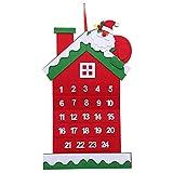 NAttnJf Calendario de Adviento de Navidad de Papá Noel Que cuelga la...