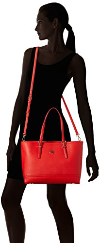 Tommy Hilfiger - Honey Medium Tote Solid, Borse Tote Donna Rosso (Fiery Red)