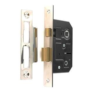 Standard Bathroom Lock 63mm (2, 1/2 Inch) Nickel Plated