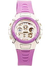 Vizion Digital Multi-color Dial Sports-Alarm-BackLight Watch For Kids-W-8516B-6
