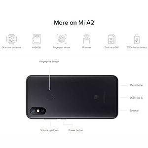 Xiaomi Mi A2 4GB / 64GB Dual SIM Smartphone Black - EU