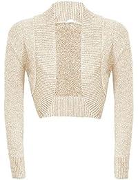 Ladies Long Sleeved Knitted Shrug Glitter Bolero Cardigan Women Glitter Top