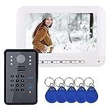 Asiproper Passwort RFID-Zugriffskontrolle 7-Zoll-Video-visuelle Nachtsichtklingel (EU)