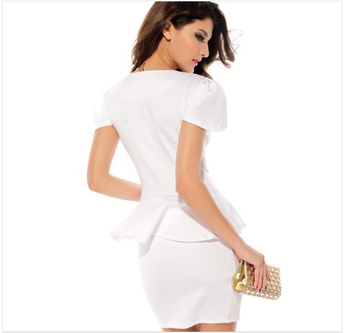 KingField - Robe - Moulante - Femme M Blanc - Blanc
