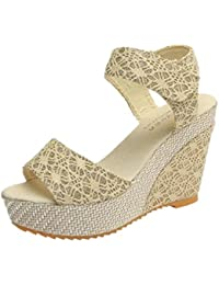 LUCKYCAT Prime Day Amazon, Sandales d été Femme Chaussures de Été Sandales  à Talons 45344c1dffa3