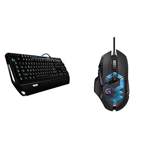Logitech G910 Mechanische Gaming-Tastatur (mit RGB Orion Spectrum, Deutsches Tastaturlayout) & LogitechG502 ProteusSpectrum Gaming-Maus schwarz - Logitech Tastatur Orion