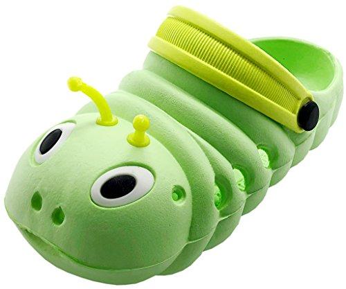 Gaatpot Mädchen Jungen Clogs Pantoletten Kinder Sandalen Outdoor Flach Hausschuhe Geschlossene Strand Sandale Schuhe Sommer Grün 21