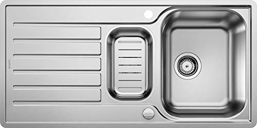 Blanco Lantos 6 S-IF, Küchenspüle, für normalen und flächenbündigen Einbau, reversibel, Edelstahl Bürstfinish, 519720