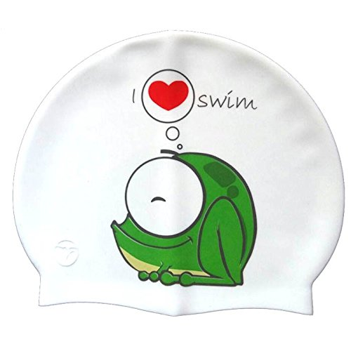 Silikonbadekappe  Frog | Schwimmkappe| Badekappe/Bademütze | Hoher Komfort und Sichtbarkeit | Italienischer Stil und Design