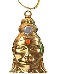 Rudra Divine Hanuman Chalisa Yantra Locket With Chalisa Printed on Optical Lens with Gold Plated Chain | 24 k Gold plated Hanuman Chalisa Yantra Pendant