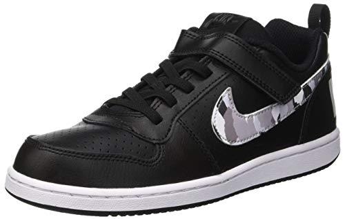 Nike court borough lo(psv), scarpe da fitness bambino, (black pure platinum/white 005), 33 eu