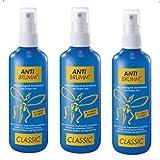 AntiBrumm CLASSIC Pumpzerstäuber Sparset 3x75 ml, Ab 2 Jahren geeignet, Hält wirkungsvoll Stechmücken und Zecken fern. Auch tropische Mücken und Tigermücken. GRATIS Zeckenzange