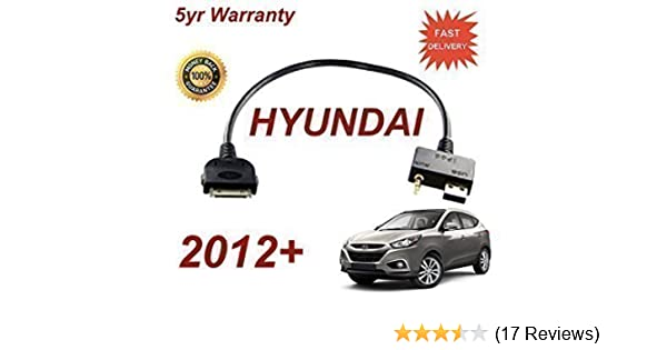 For Hyundai i800 iPhone 3gs 4 4s iPod USB /& 3.5mm Aux Cable Model Year Pre 2012