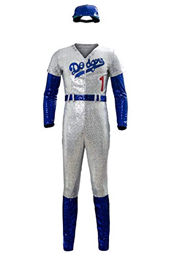 MingoTor Rocketman Elton John Dodgers Baseball Uniform Cosplay Kostüm Herren XL