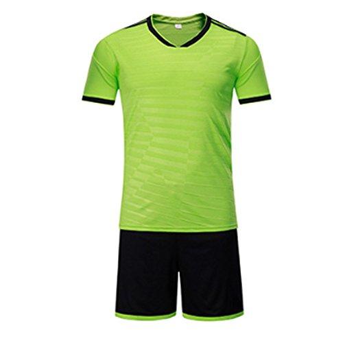 Kostüm Frauen Fußball Trikot - Huicai Fußball Jersey Sport Kostüme Kleidung Fußball für Männer und Frauen Sommer Anzüge Kleidung Sets Jersey und Kurz