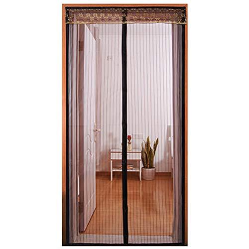 HUTUpc Magnetische Vorhänge für Türen, magnetische Tür, passend für Türen bis 180 x 240 cm, Kaffeebraun, braun, 100 * 200cm -