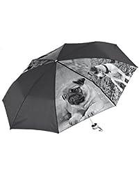 Paraguas plegable animales: perritos negro