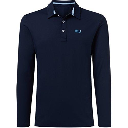 Sportkind Jungen & Herren Tennis / Golf / Sport Langarm Poloshirt, navy blau, Gr. XL