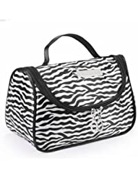 EasyBuy India Zebra Stripe Portable Makeup Cosmetic Case Storage Travel Bag