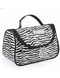EasyBuy India Zebra Stripe Portable Makeup Cosmetic Case Storage Travel Bag