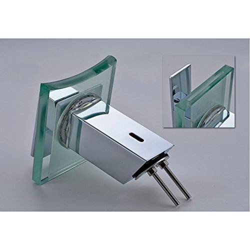 Auralum RGB LED Licht Wasserhahn Glas Waschtisch Spüle Armatur Waschtischarmatur Küchen -