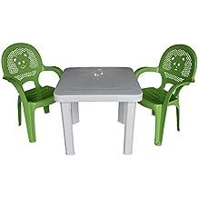 Sedie Verdi Di Plastica.Amazon It Tavolo Bambini Plastica Con Sedie