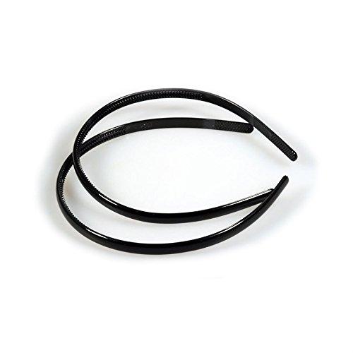 10 Haarreifen Rohlinge aus Kunststoff schwarz 8mm zum Bekleben & Schmuck basteln