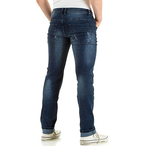 Herren Jeans, DESTROYED REGULAR FIT JEANS, KL-H-JK-112K Blau