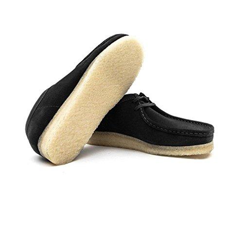 Clarks Originals Mens Black Wallabee Suede Shoes Noir