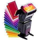 Kamera Fotografie 12 Stück Blitz Speedlite Farbfilter Verschiedene Farbeffekt Farbfolien (Gels) Filterset für Canon/Nikon/Sony/Pentax