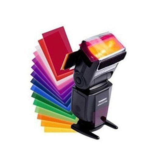 Kamera Fotografie 12 Stück Blitz Speedlite Farbfilter Verschiedene Farbeffekt Farbfolien (Gels) Filterset für Canon/Nikon/Sony/Pentax Fotografie-kamera