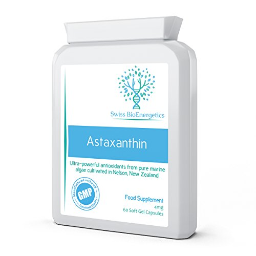 Astaxanthin 42mg AstaPure® Oil – 60 Soft Gel Capsules – Premium Quality 10% Astaxanthin from Haematococcus Pluvialis…