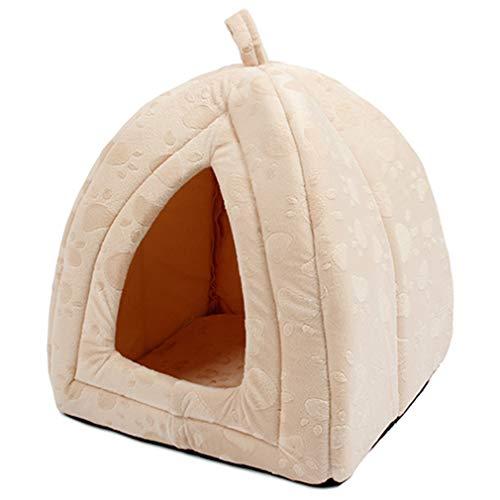 Ankunft Haustier Kennel Super Soft Fabricdog Bett Prinzessin Haus angeben für Welpen Hund Katze mit Pfote Cama para Cachorro Beige Free Size Beige Cam Cover